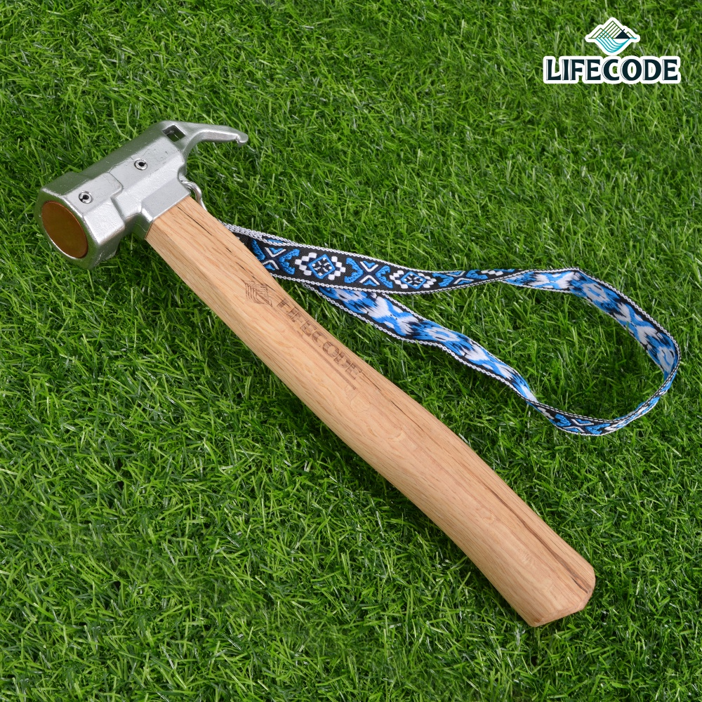 【LIFECODE】工學青鋼木柄紅銅野營錘/拔釘器