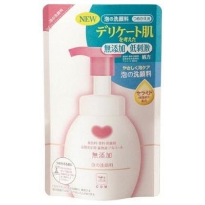 日本牛乳石鹼 無添加泡沫洗面乳補充包180ml