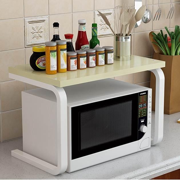 微波爐置物架 廚房置物架微波爐架子廚房用品落地式多層調味料收納架儲物烤箱架