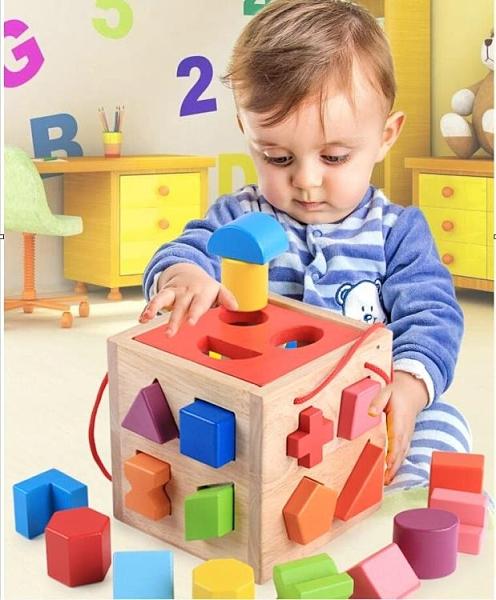 幼兒童嬰兒拼裝積木 一周歲益智力 一木良品