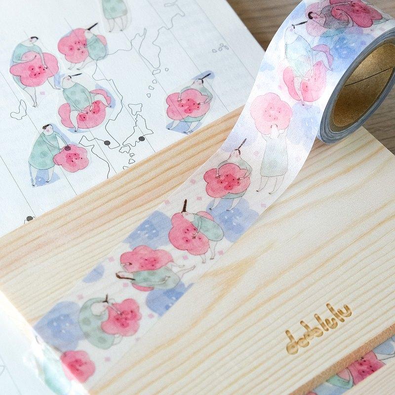 """""""花與雲朵"""" 日本製和紙膠帶   dodolulu"""
