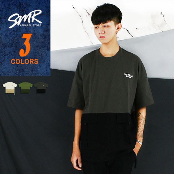 短t-落肩雙袋工裝短t-混色設計款004bb519共3色現貨+預購smr