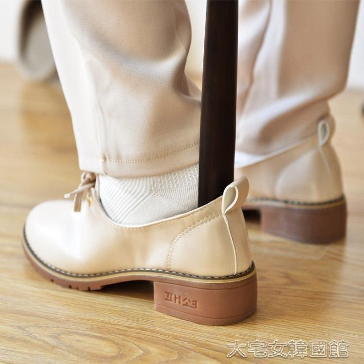 鞋拔 櫸木實木質鞋拔子超長加長把長柄鞋拔提鞋器穿鞋器鞋把子鞋抽 交換禮物 雙十二購物節