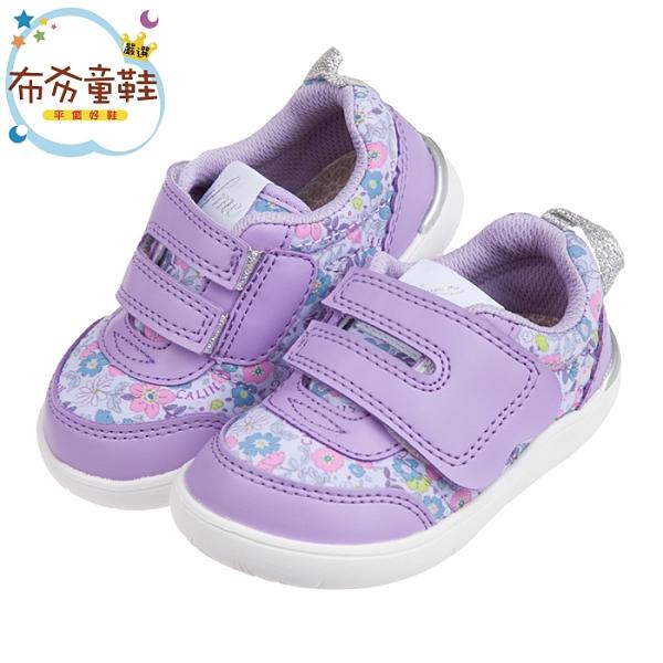 《布布童鞋》日本IFME花繪采風紫色兒童機能學步鞋(12.5~15公分) [ P0Q003F ]