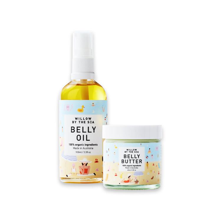 澳洲aco有機認證海洋微洛 撫紋滋養霜+潤膚油