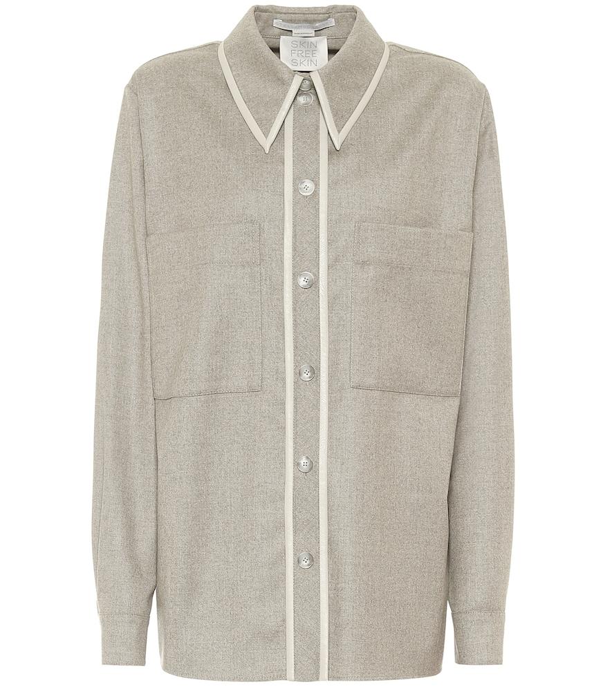 Ariel wool flannel shirt