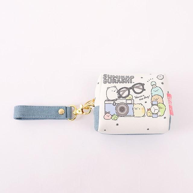 日貨角落生物box型零錢包 單寧系列-norns 日本進口 附手腕帶 小化妝包 - 單寧系列