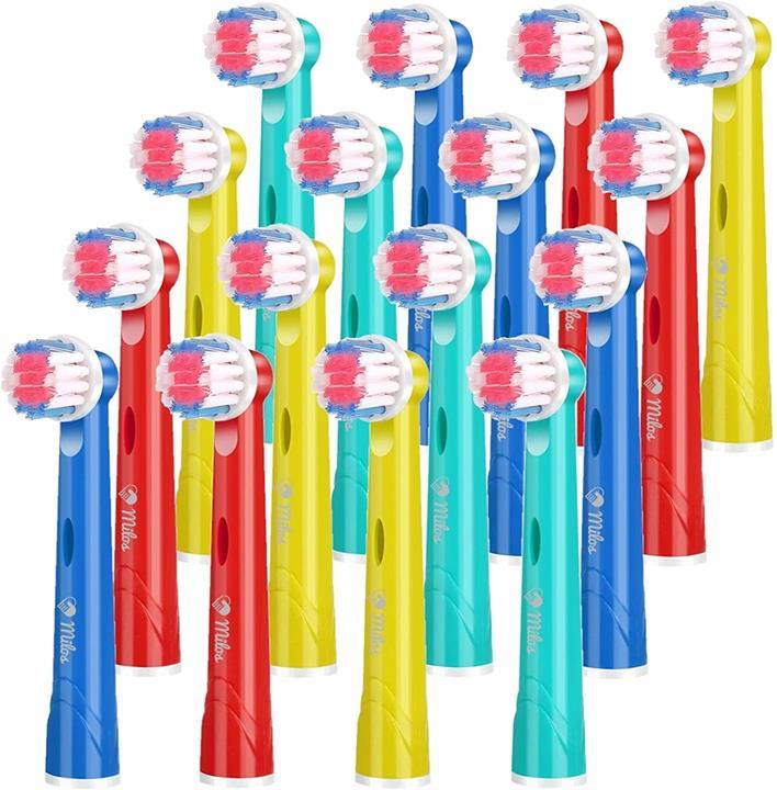 【美國代購】Milos Kids牙刷頭相容Oral B Braun替換相容牙刷頭 16支