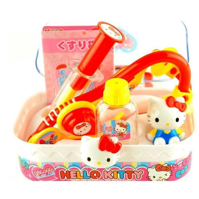 正版授權 hello kitty 凱蒂貓 手提盒 醫護手提箱 醫生組合 st安全玩具0511347
