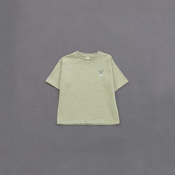 Queen Shop【01038573】童裝 親子系列小樹苗羅紋領TEE S/M/L/XL*現+預*