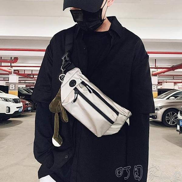 斜背包 胸包男ins超火斜背包腰包運動小包背包個性單肩包男生包包 【快速出貨】