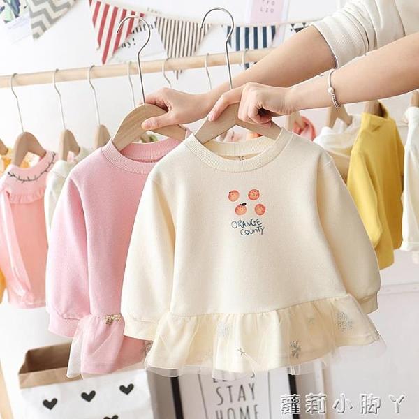 女童連衣裙洋氣春裝2020新款短款童裝兒童裙子寶寶長袖娃娃裙春秋 蘿莉新品