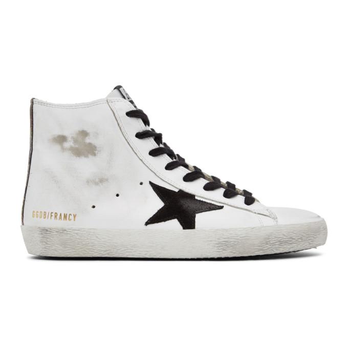 Golden Goose 白色 and 黑色 Francy 高帮运动鞋