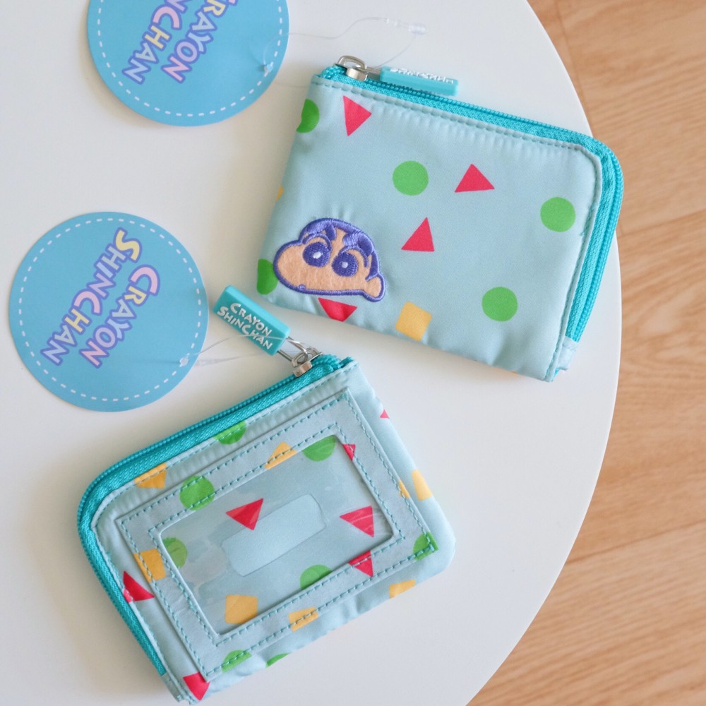 《蠟筆小新》日本商品 睡衣小新票卡夾小錢包 證件套 收納包 鑰匙包