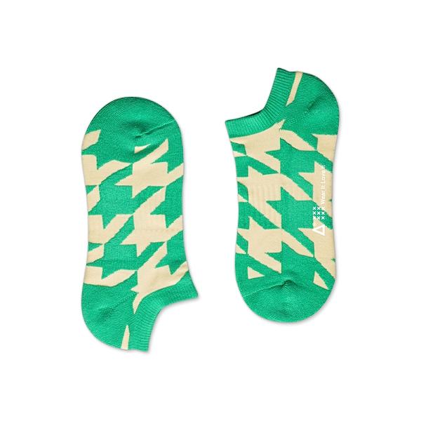 WARX除臭襪 千鳥格紋船型襪-綠白
