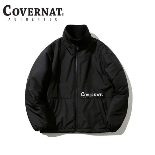 [COVERNAT] 20秋冬 雙面刷毛拉鍊夾克(黑色)