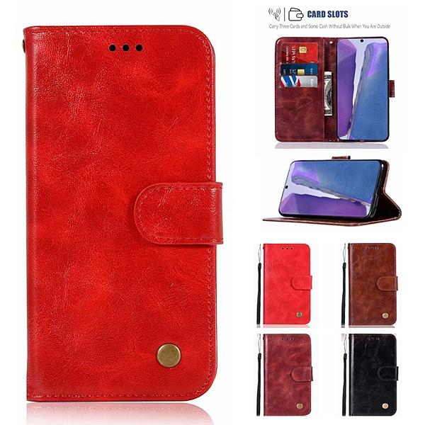 三星 Note20 Note20 Ultra 手機皮套 復古刷色皮套 插卡 支架 磁扣 可掛繩 防摔 內軟殼 手機套 手機殼