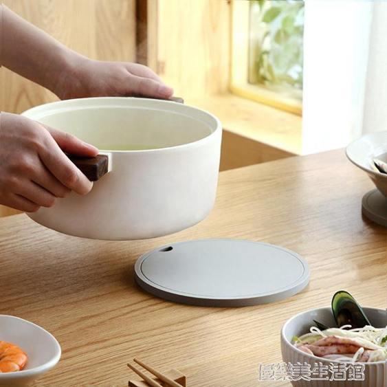 硅膠隔熱鍋墊家用碗墊圓形餐桌墊盤子墊可掛隔熱墊子66112