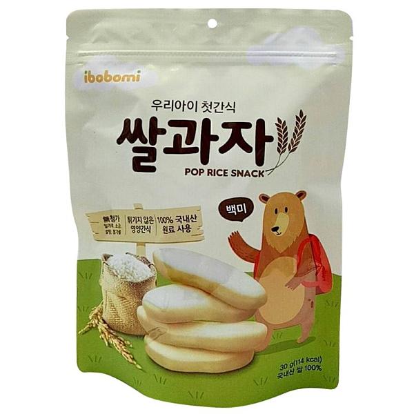 韓國 ibobomi 嬰兒米餅30g-原味[衛立兒生活館]