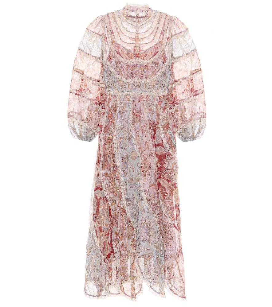 Ladybeetle floral georgette midi dress