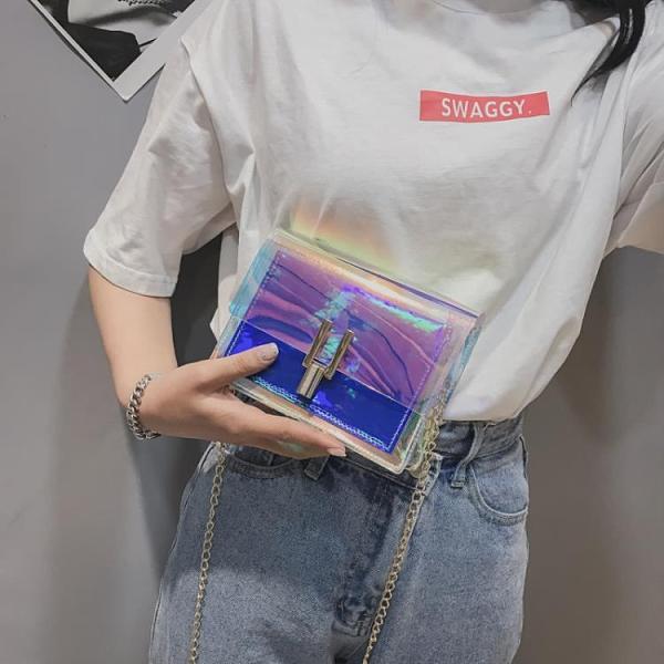 特賣 網紅小包包鐳射透明果凍上新款少女心可愛學生仙女生女包斜挎