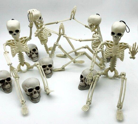 東區派對--萬聖節骷髏/萬聖節骨架/骷髏擺飾/吊飾 /骷髏人形/骷髏骨架/40cm骷髏