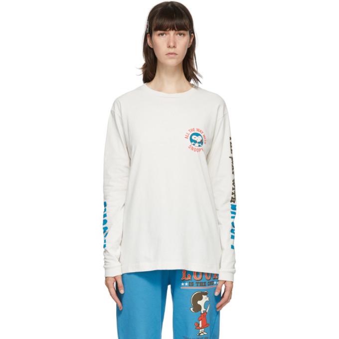 Marc Jacobs 灰白色 Peanuts 联名 Snoopy 长袖 T 恤