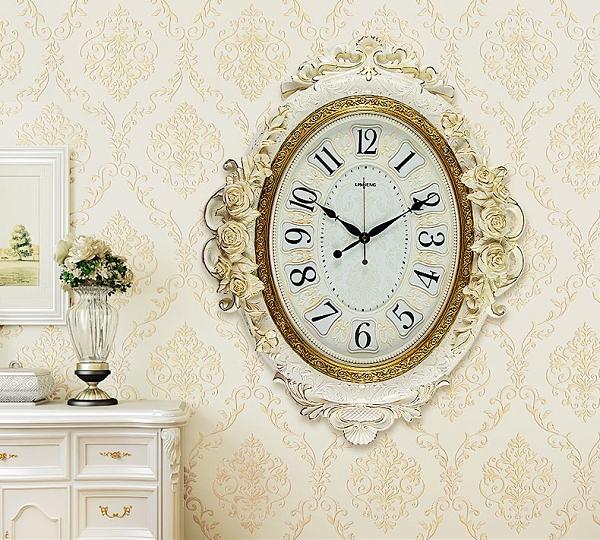 歐式大號掛鐘美式復古裝飾時鐘石英鐘客廳靜音田園時尚創意