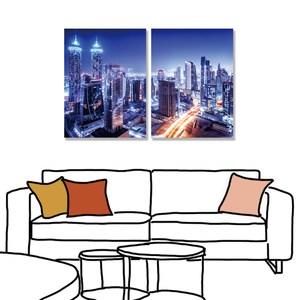 【24mama 掛畫】二聯式 油畫布 無框畫 30X40cm(未來)