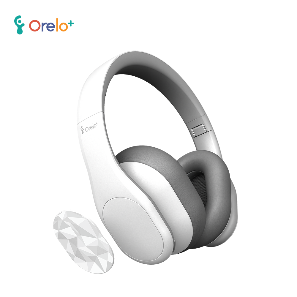 orelo+頭戴式藍牙降噪耳機聽力保護者p103 -消光白