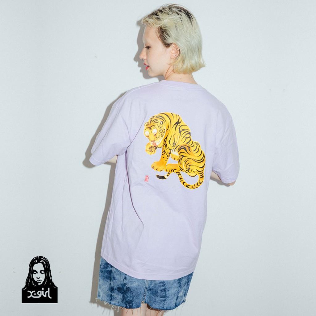 X-girl TIGER S/S TEE 老虎水墨畫 105202011034