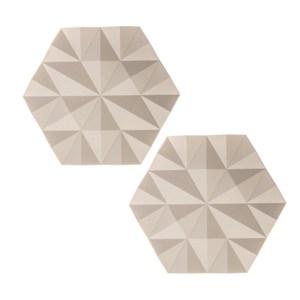 (組)2入丹麥ZONE FACET系列菱紋矽膠鍋墊-櫸木黃