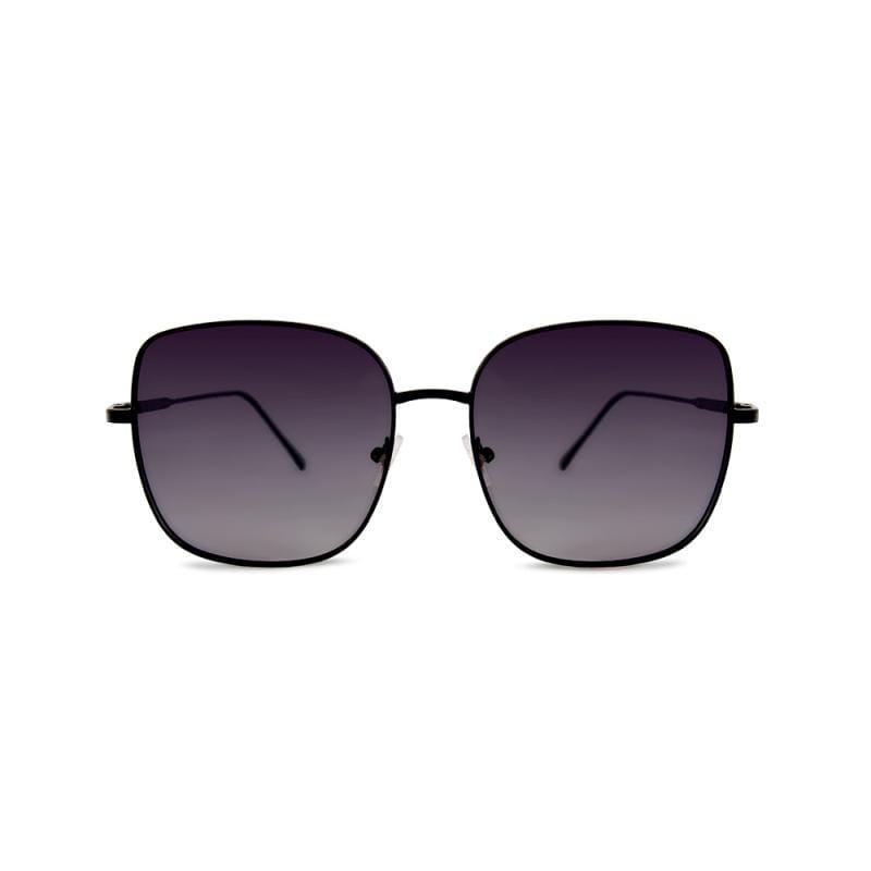聖馬可的鐘樓奇遇│灰水藍微方黑細框偏光墨鏡│UV400太陽眼鏡 灰水藍