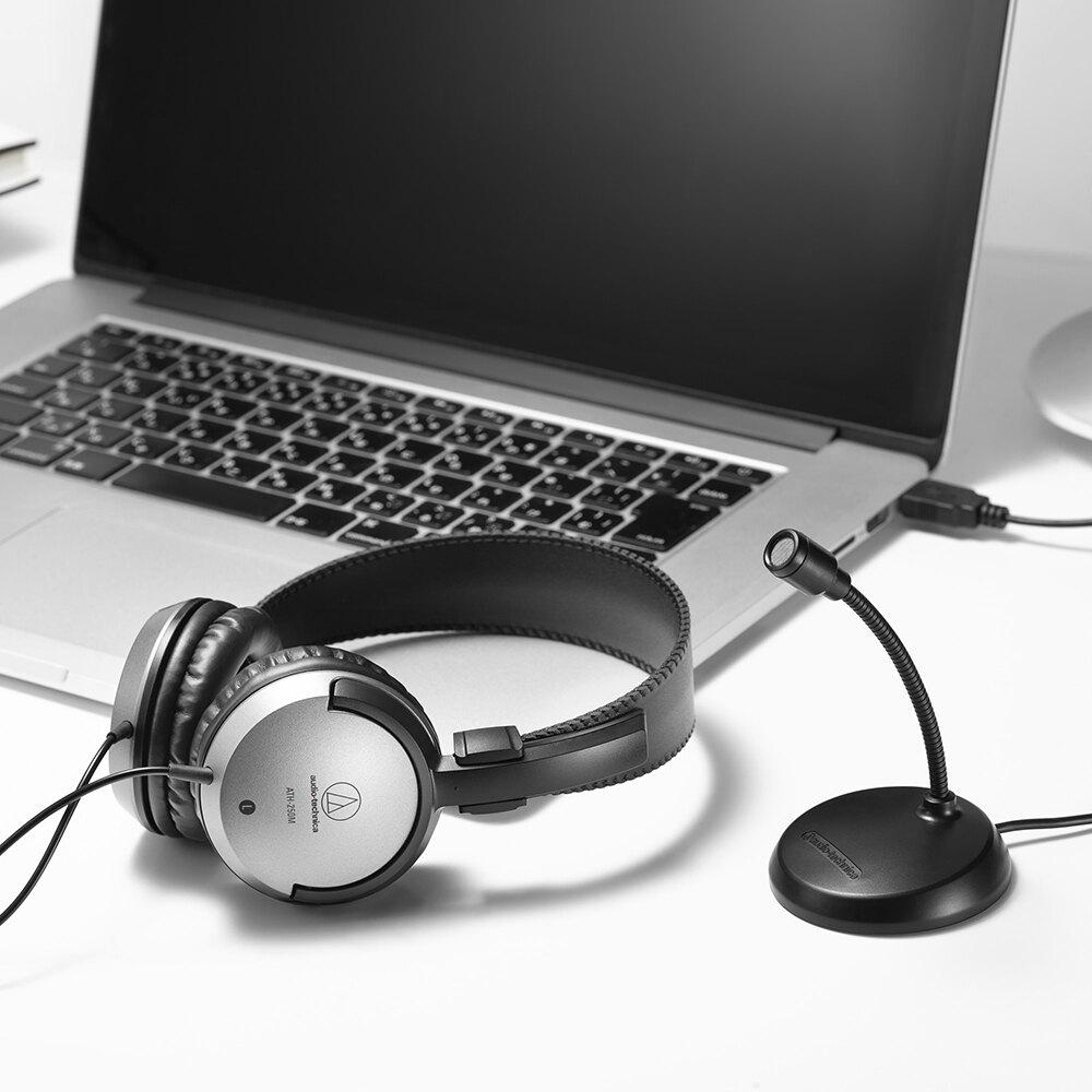 志達電子 AT9933USB PACK 日本鐵三角 遠端工作USB麥克風耳機組  [台灣鐵三角公司貨]