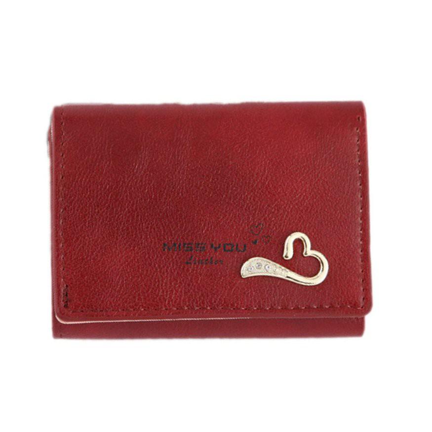 女士短夾袋3折小錢包迷你錢包卡包零錢包 潮可 新款優惠中 上新