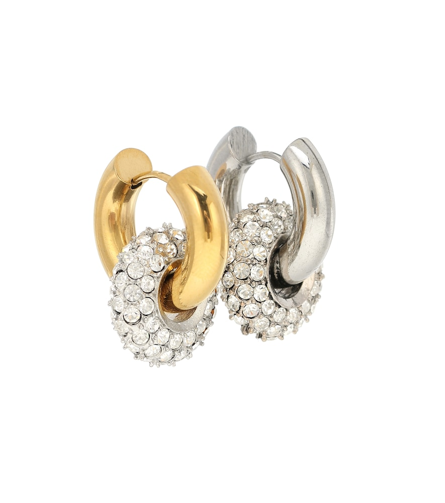 24kt gold-plated sterling silver hoop earrings