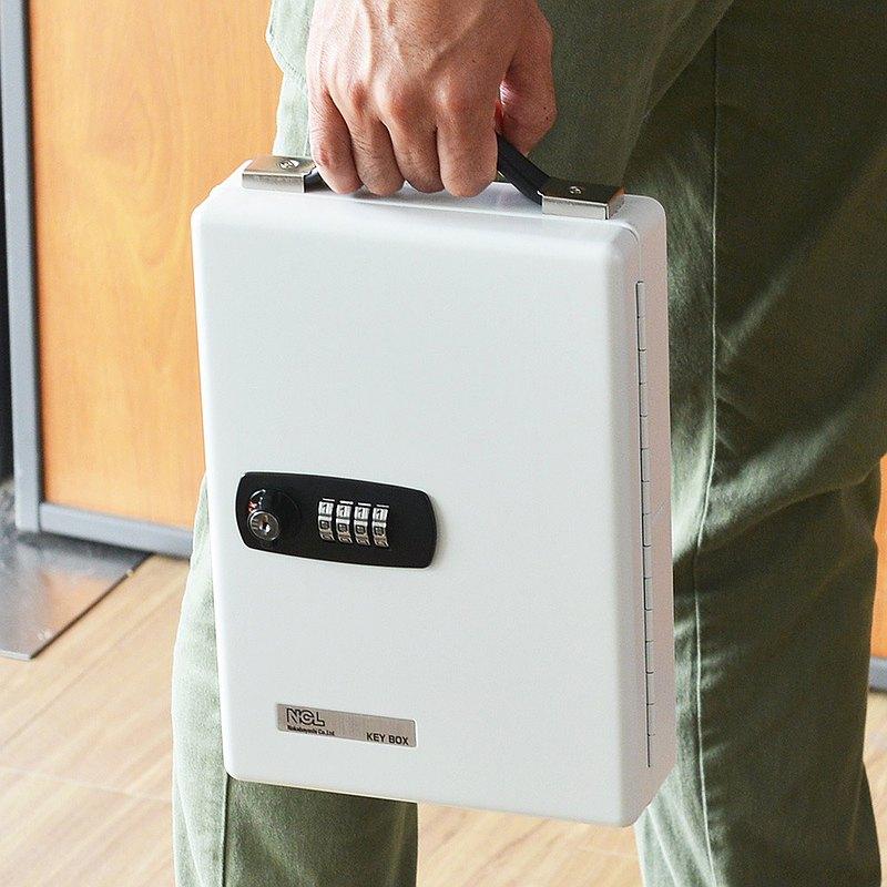 日本仲林 鋼製壁掛手提兩用密碼鎖型鑰匙管理箱(可收納60支鑰匙)
