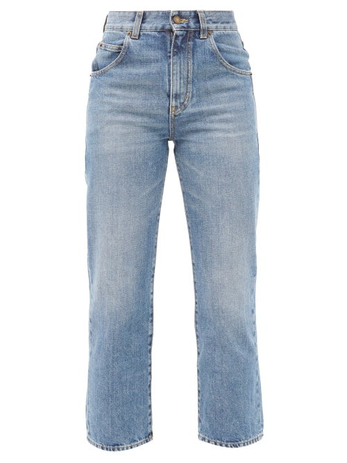 Saint Laurent - High-rise Cropped-leg Jeans - Womens - Denim