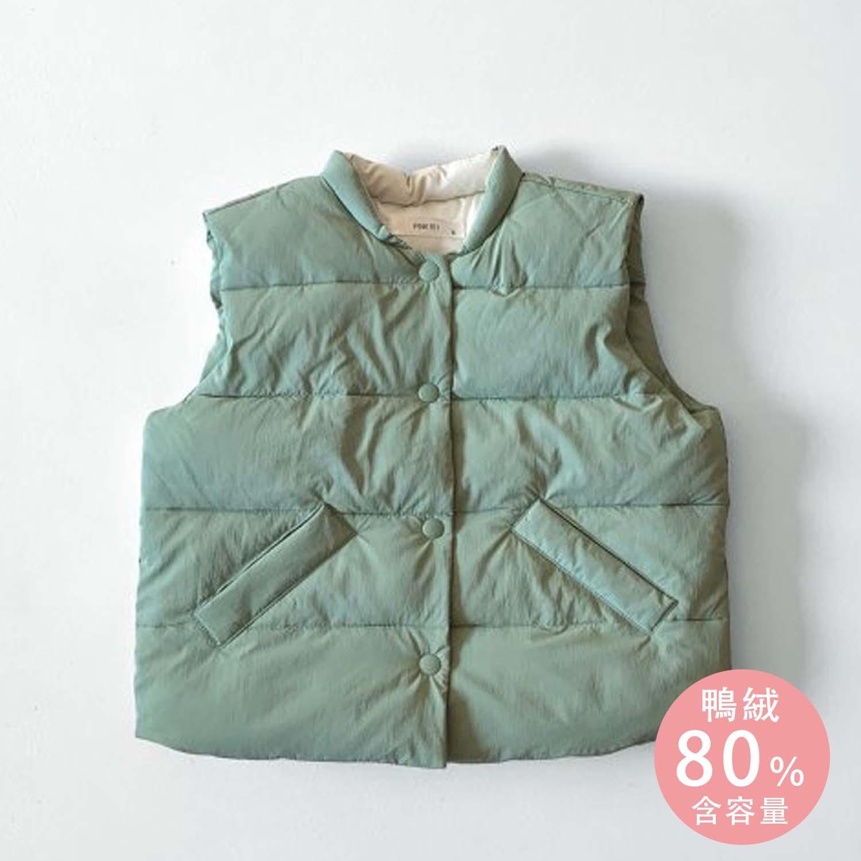 韓國 PINK151 - 輕量保暖羽絨背心-薄荷綠