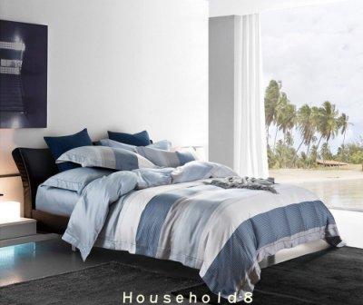 [免運費] 100%極品天絲 雙人鋪棉床包四件組 搭配兩用鋪棉被套 TENCEL [海風吹過的夏]