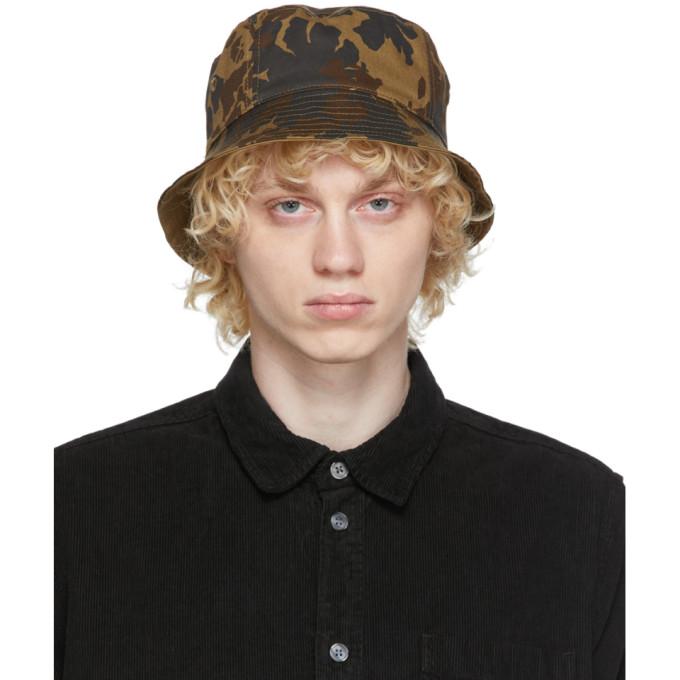 Wood Wood 绿色 and 黑色迷彩渔夫帽