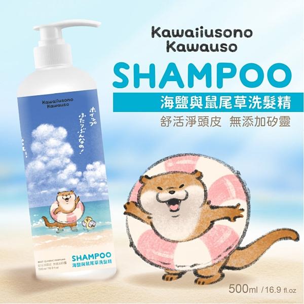 【御衣坊】小玩笑小水獺 海鹽與鼠尾草 洗髮精 500ml