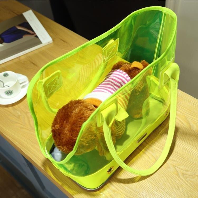 寵物背包夏季透氣貓包外出包泰迪可折疊便攜透明包狗狗背包貓背包♠極有家♠