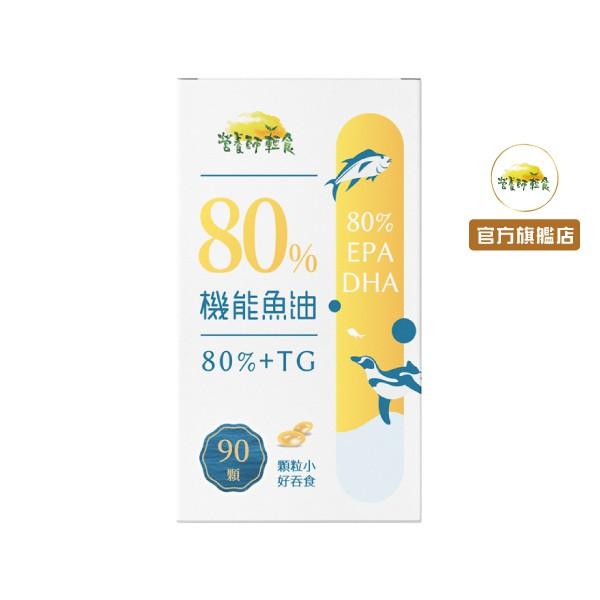 80%機能魚油(90顆/入)含高濃度DHA+EPA,頂級深海魚油