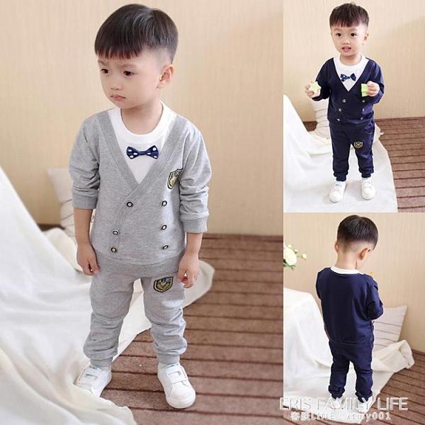 童裝男童秋裝套裝新款寶寶小孩衣服帥氣兒童長袖兩件套韓版1-5歲2 艾瑞斯