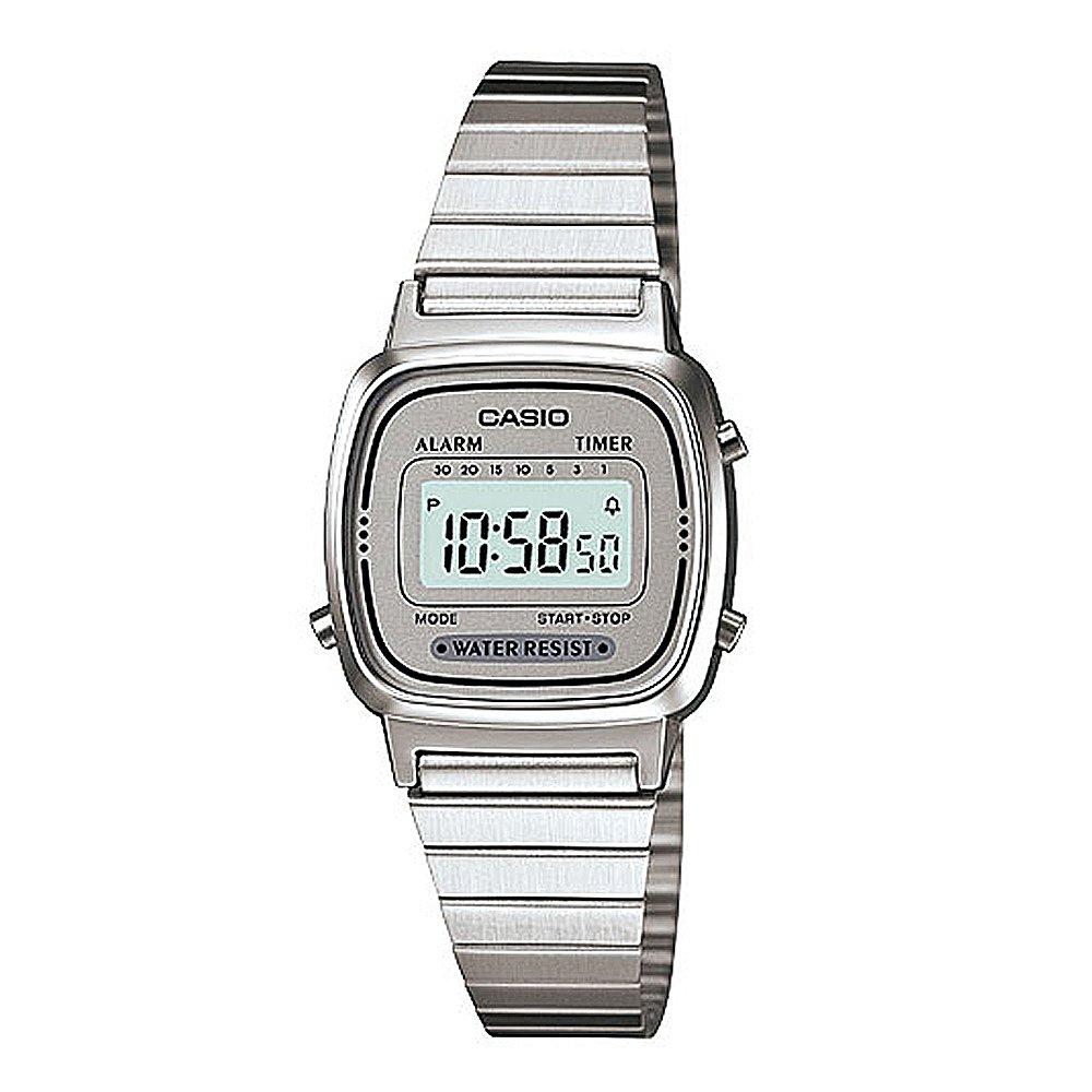 【CASIO卡西歐】質感爾雅電子錶-白面 (LA-670WA-7)