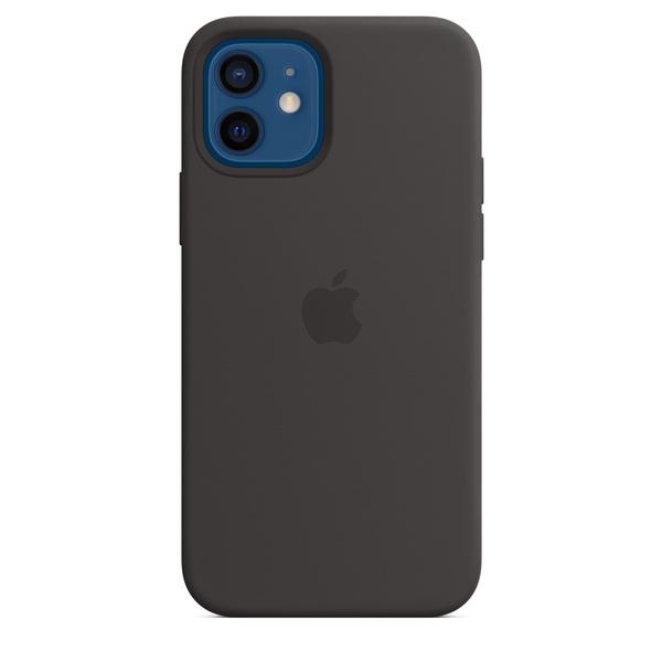 iPhone 12 | 12 Pro MagSafe 矽膠保護殼 - 黑色