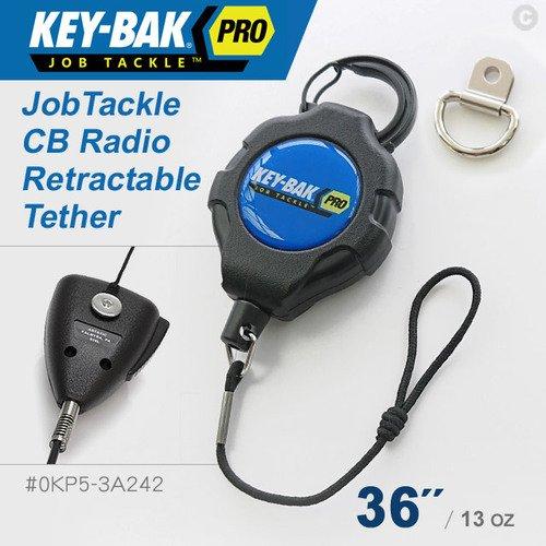 """KEY-BAK JobTackle系列 36"""" 伸縮繫繩-適用對講機手提式麥克風(#0KP5-3A242)"""
