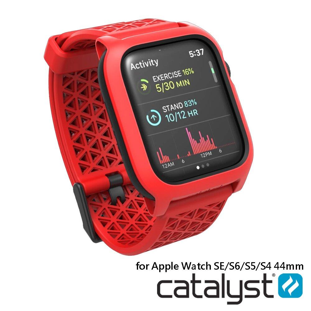 CATALYST APPLE WATCH SE/ S6 / S5 / S4  44mm 耐衝擊防摔保護殼(含錶帶)-紅色