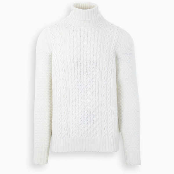 Drumohr White turtleneck sweater